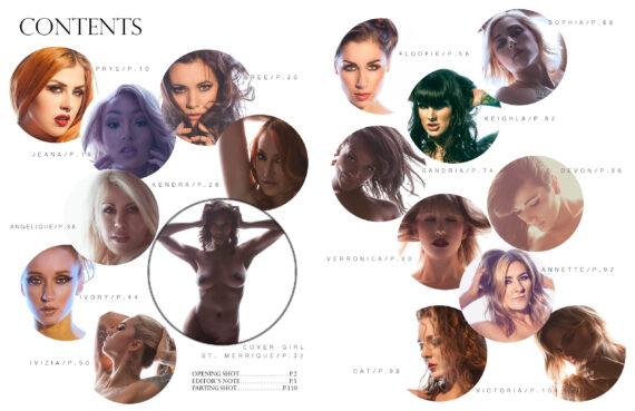black label magazine, black label beauties, nude models, floofie, kendra james, sandria dore, st. merrique, cat hedlund, keighla night