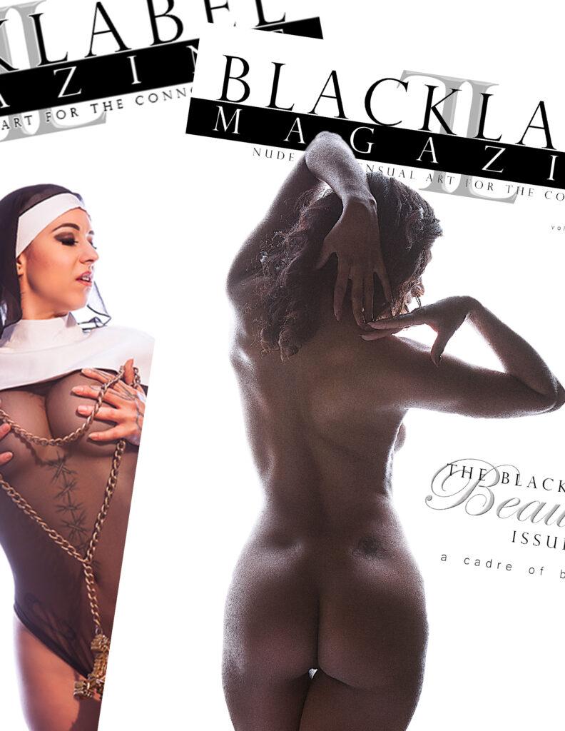 black label magazine, nude magazine, nude art, nude art photography