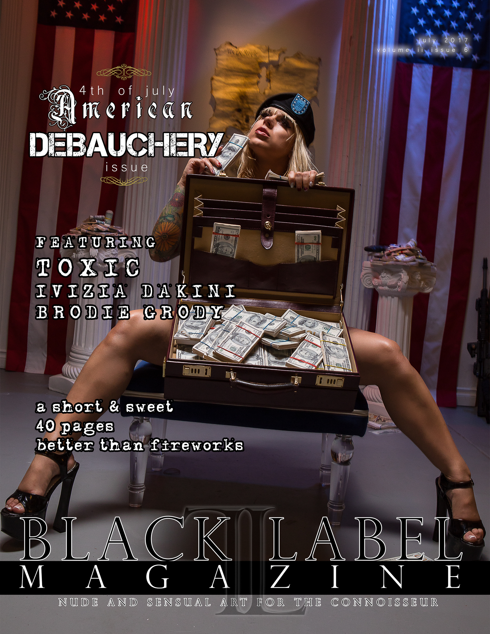 4th of July, nudes, models, nude art, exotic art, burlesque models, nude models, inflammatory, politics, #makeamericagreatagain